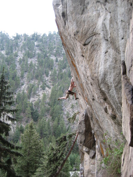 Rock Climbing Photo: Achey sticking it to the man on White Men Can't Ju...