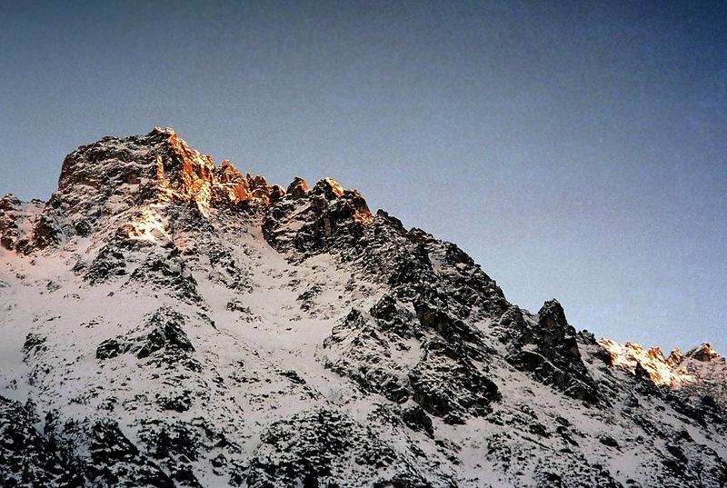 Tatras, Gran Apostolow (Ridge of the Apostols) in Morskie Oko region. Winter '97.