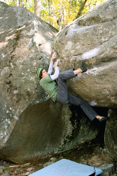 the saucer at Asheboro boulders, NC