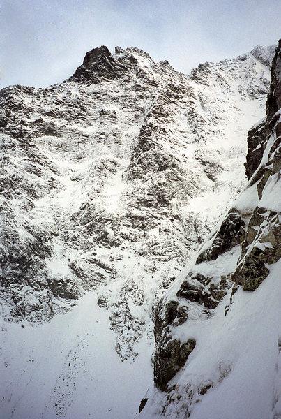 Niznie Rysy massif from Korosadowicz route on Kazalnica. Winter '97.