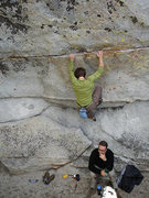 Rock Climbing Photo: A fave route for sure going around the coner away ...