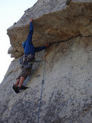 Rock Climbing Photo: This route was a blast, the knobs are quite enjoya...