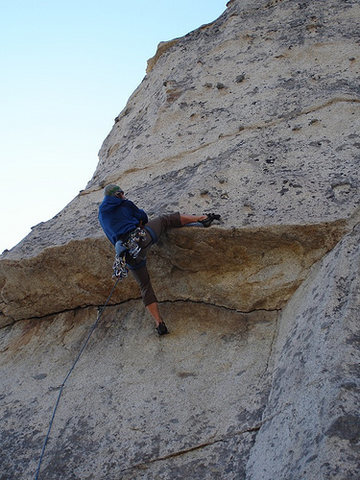 Rock Climbing Photo: pulling the roof to the knobland