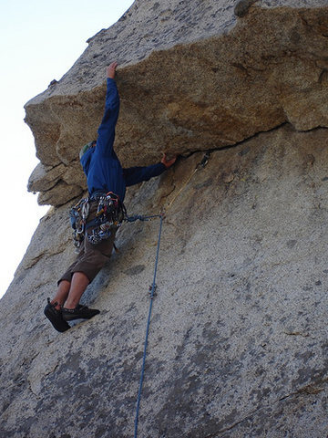 Rock Climbing Photo: navagating through the roof