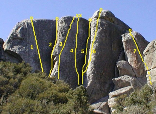 Rock Climbing Photo: Super Hits Wall 1. Double Vision 5.10 R 2. October...
