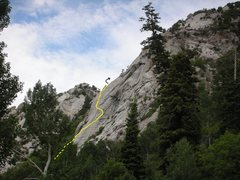 Rock Climbing Photo: A profile shot from the east, with only pitches #2...