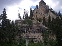 Rock Climbing Photo: The Rappel Wall easily spotted from the road.. Loc...