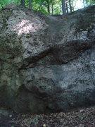 Rock Climbing Photo: Far right overhang.