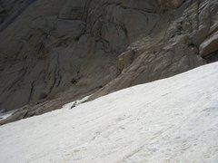 Rock Climbing Photo: Mike returning to pick up packs at base of Directi...