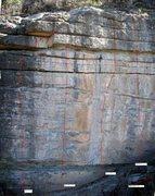 Rock Climbing Photo: The vertical wall at Big Block.