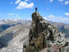 Rock Climbing Photo: On the ridge crest at 13.