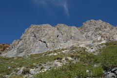 Rock Climbing Photo: Cave Wall from the approach road.  Photo courtesy ...