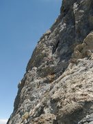 Rock Climbing Photo: Climbing the crack just below the cave entrance on...
