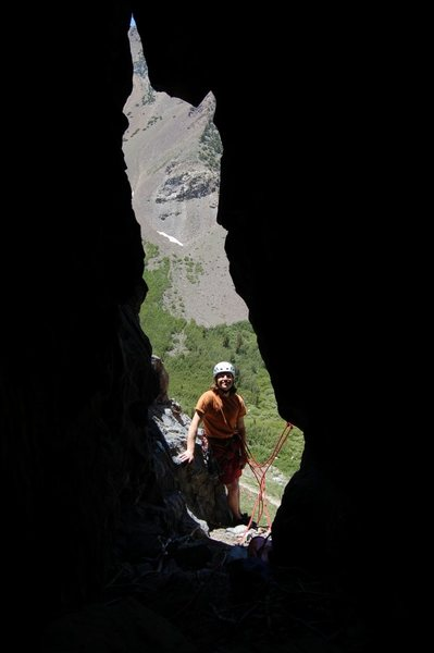 Rock Climbing Photo: Standing at the Belay of Stick With It.  Photo cou...