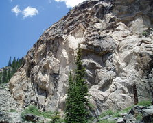 Rock Climbing Photo: Left side of Lower Grotto Wall. Cryogenics is left...
