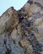 Rock Climbing Photo: Pulling the juggy hang to the ledge. The chains ar...