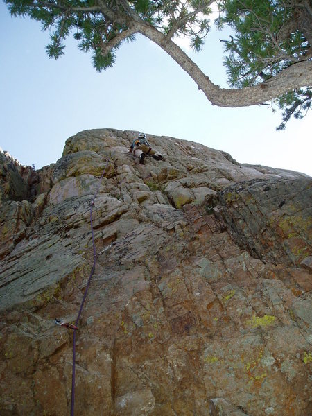 Rock Climbing Photo: Left Cheek below the crux bulge.