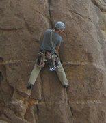 Rock Climbing Photo: Leading at Windy Point, Mount Lemmon.