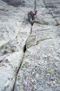 Rock Climbing Photo: Holdless Horror (5.6), Tuolumne