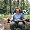 Playing some Scrabble after a long day of climbing in Tuolumne.<br> <br> Dang my hair used to be long.