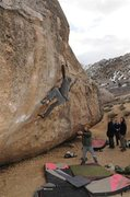 Rock Climbing Photo: high plains drifter, Bishop
