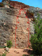 Rock Climbing Photo: 1) The Hunter  2) The Hunted