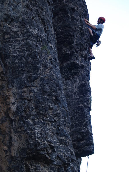Rock Climbing Photo: Working the crux of Body Bag.