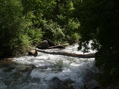Rock Climbing Photo: Finding a way across the river can be tricky now t...