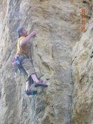 Rock Climbing Photo: Just starting the crux