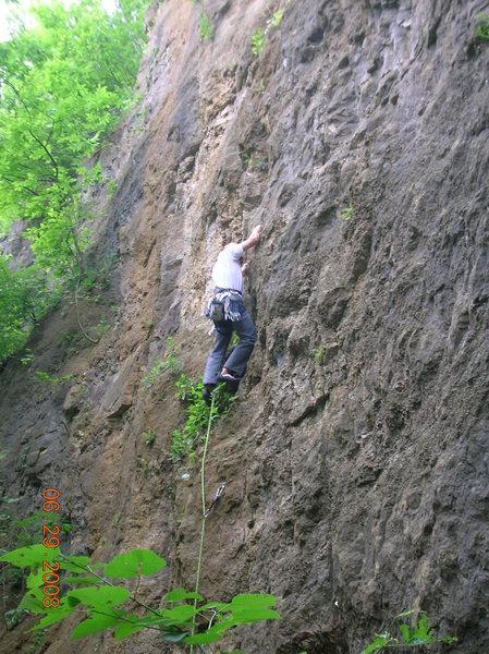 Rock Climbing Photo: Pete leading