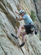 Rock Climbing Photo: Maceyka, dancing right up Wild Flower, followed by...