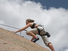 Rock Climbing Photo: Drop Zone. Lead it. Loved it. Had to go back up it...