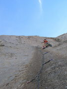 Rock Climbing Photo: View of starting bolt line and 1st nut placement. ...