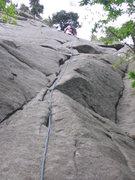 Rock Climbing Photo: P1 on the ever enjoyable Pentapitch