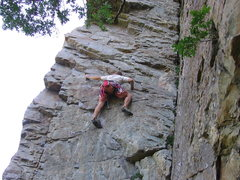 Rock Climbing Photo: A desperate attempt.  What a shame...  The crux on...