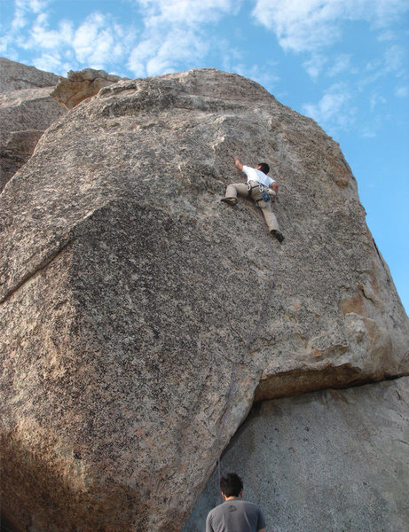 Rock Climbing Photo: Russ on the Direct North Boulder