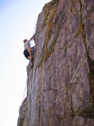 Rock Climbing Photo: So, he did make it! Watson at the top - Goodro's C...