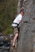 Rock Climbing Photo: No slab move is an easy move! - I Think I'm Going ...