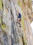 Rock Climbing Photo: Tavis Ricksecker AKA Mr. T. doing the FA.