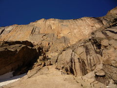 Rock Climbing Photo: North Chimney (East Face of Long's Peak) Condition...