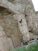 Rock Climbing Photo: Beginning of EKV, round the 3rd hanger.  Happiness...