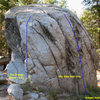 Ranger Station Rock 1 (E Face), Tramway.