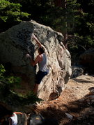 Rock Climbing Photo: James bouldering in Long Valley, Tramway