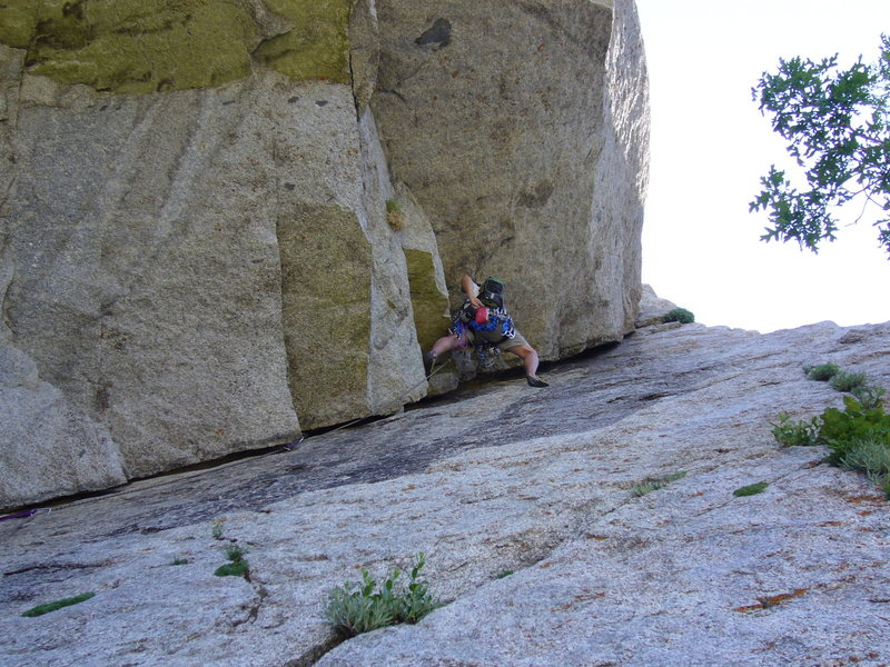 Chalking up - P1: EllsWorth McQuarry Route