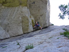 Rock Climbing Photo: Chalking up - P1: EllsWorth McQuarry Route