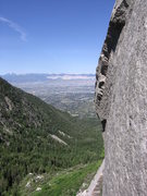 Rock Climbing Photo: View of the valley from the top of the first pitch...