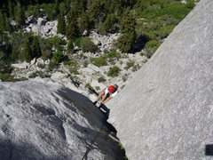 Rock Climbing Photo: Me seconding the second pitch.  Check out that exp...
