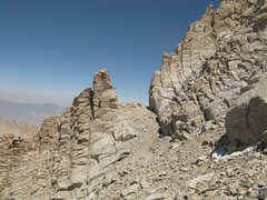 Rock Climbing Photo: The notch at the top of the Mountaineer's Route gu...