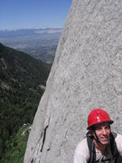 Rock Climbing Photo: The valley from the top of the 3rd pitch after Hos...