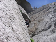 Rock Climbing Photo: Hoskins making his way up the 4th pitch, little do...